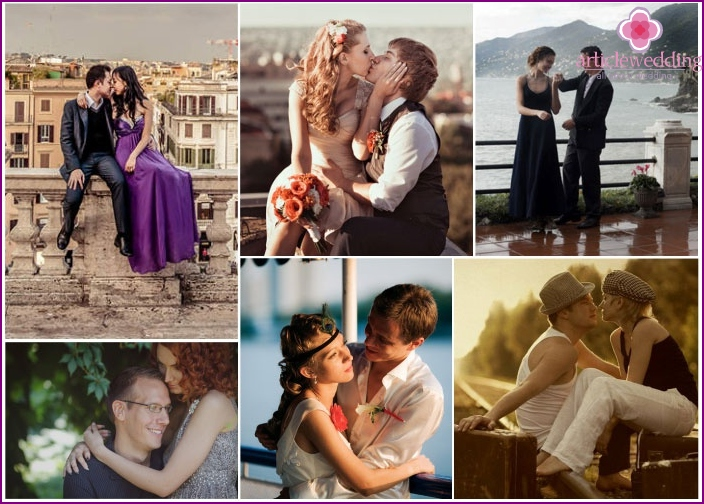 Photoshoot love-story at the time of the anniversary of Ni