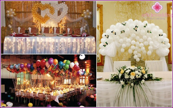 Balls - elegant wedding table decoration