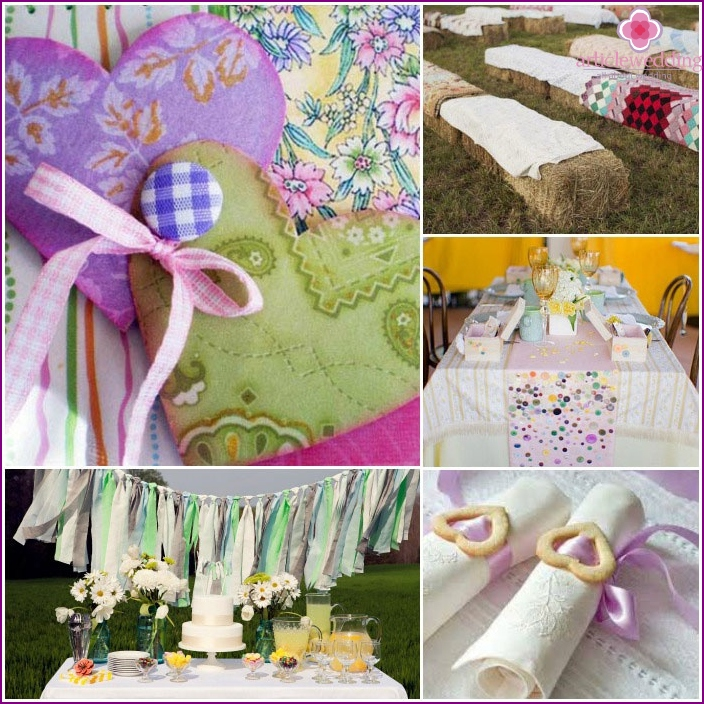 Making calico wedding