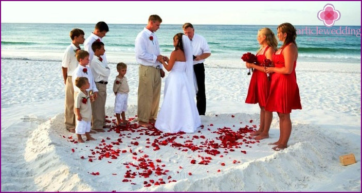 Ideas for a wedding on the beach