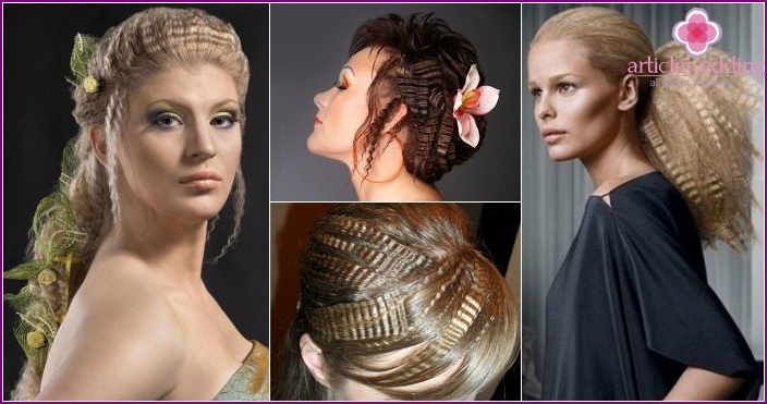 The image of the bride's friends: hairstyle with ripple