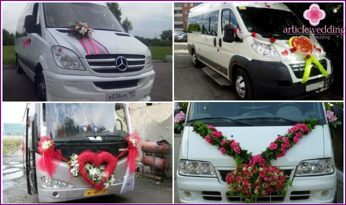 Transport for guests at a wedding