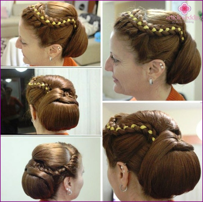 Hairstyle in the Greek style