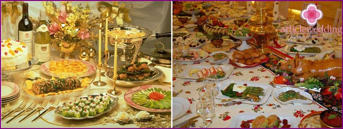 Serving wedding table during the cold season