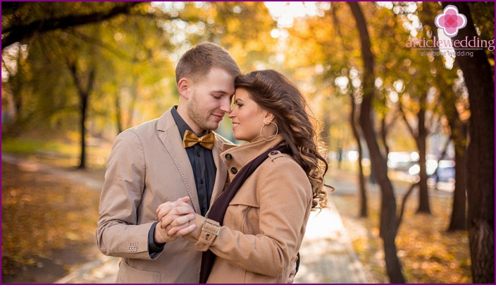 Autumn photoset honeymooners love story