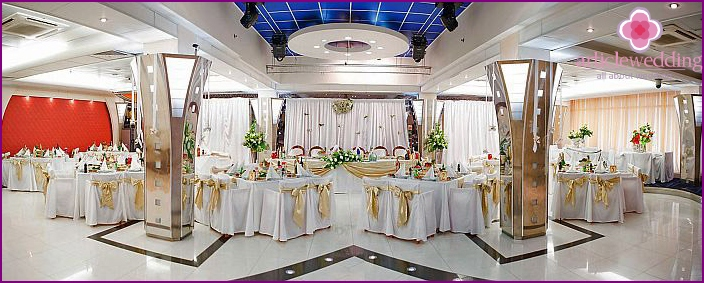Organization of the wedding ceremony in the hotel