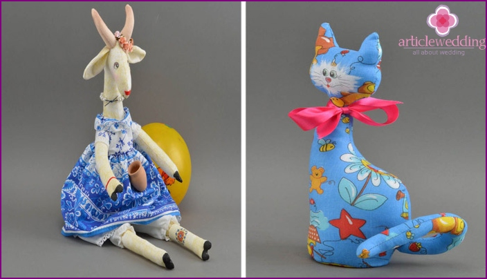 Toys made of calico