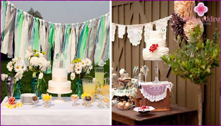Decor elements for a festive picnic