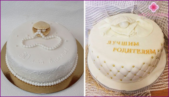 Ideas to design cakes pearl wedding
