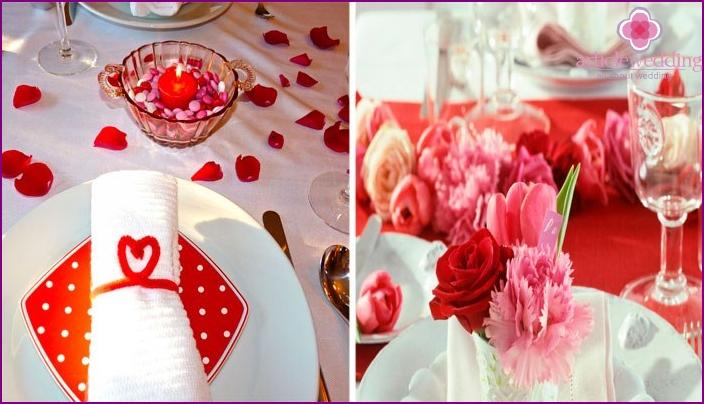 Tableware 40 wedding anniversary