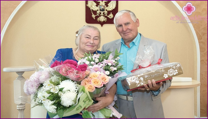 Spouses Agayev 100 years of wedding
