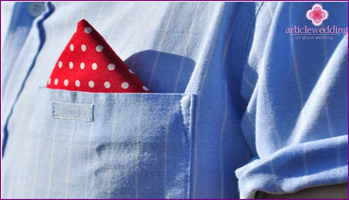 Handkerchief in the pocket
