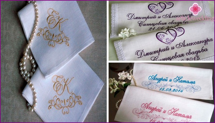 Handkerchiefs to 1 year of marriage