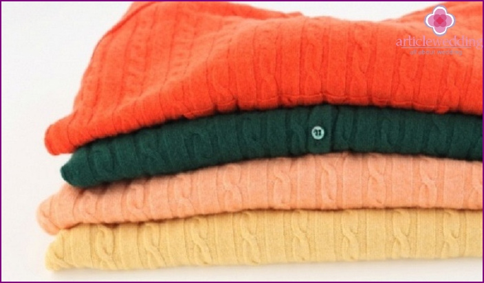 Clothes made of cashmere