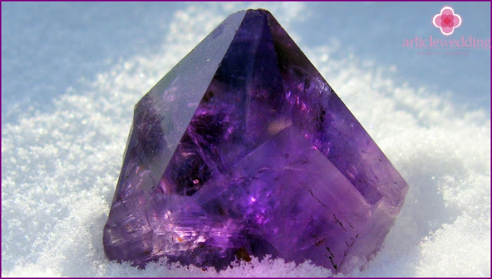 Amethyst - a symbol of 48 wedding anniversary