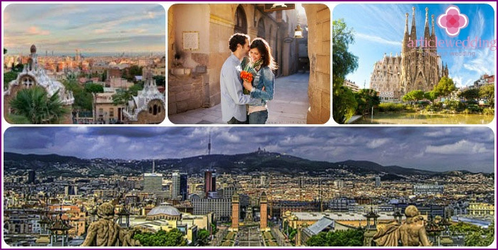 Barcelona for lovers in July