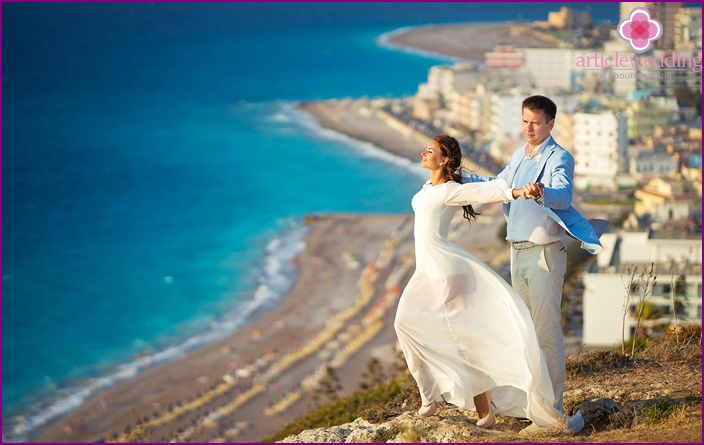 Wedding holiday in Greece