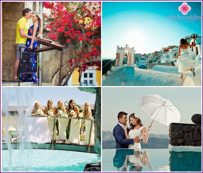 Honeymoon on the Greek island of Mykonos