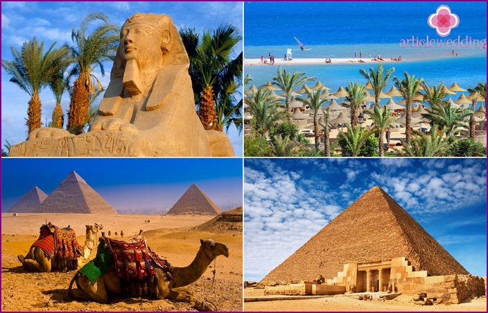 Honeymoon among the Egyptian pyramids