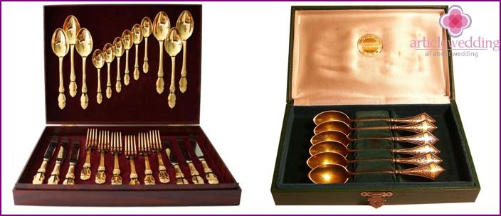 German silver cutlery set