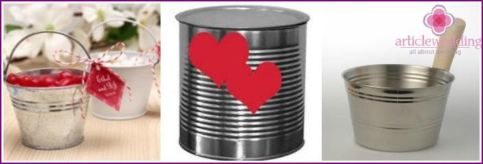 Tin utensils for wedding customs