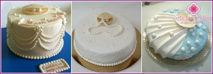 Cake for wedding pearl