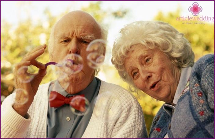 Scenario celebration of the 70th anniversary of marriage