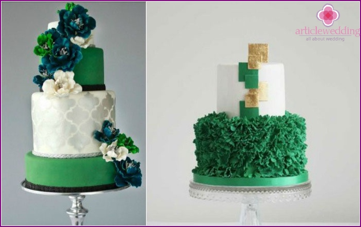 Cake for emerald anniversary