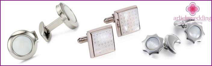 Pearl cufflinks for wedding anniversary