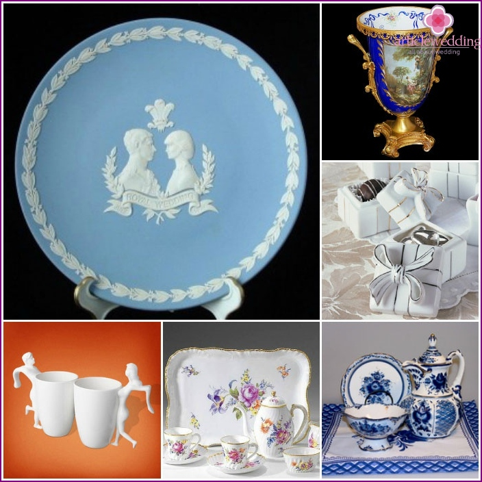 Porcelain ware on wedding anniversary