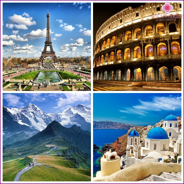 Wedding holiday - Europe