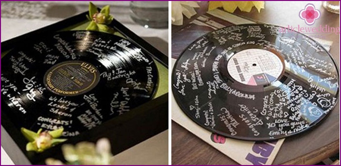 Wedding book requests in the form of records