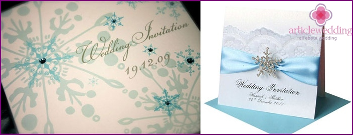 Invitations to wedding winter