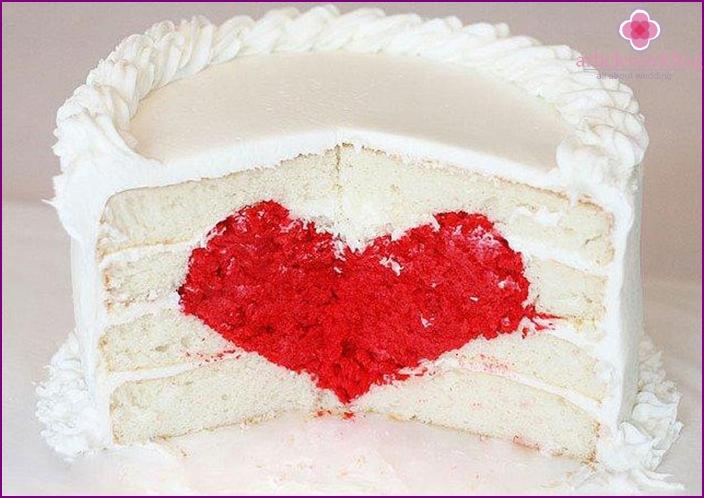 Wedding cake for Valentine's Day