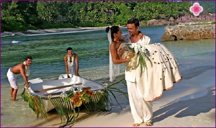 Wedding on the beach together