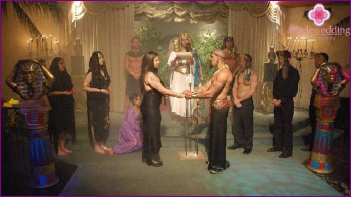 Egyptian wedding ceremony