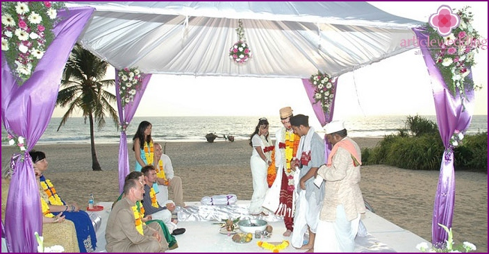 Indian ceremony for the newlyweds