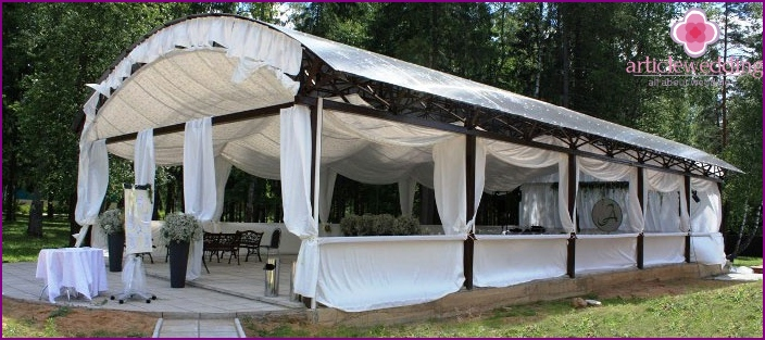 Wedding tent on the nature