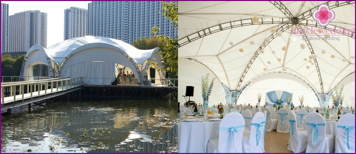 The tent for the wedding in Moscow
