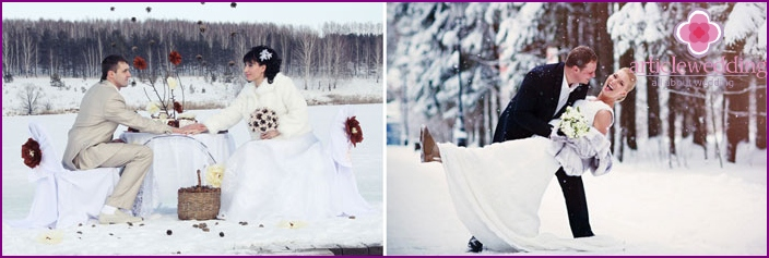 Beautiful moments of the February wedding