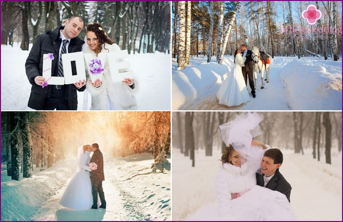 Wedding during the February cold