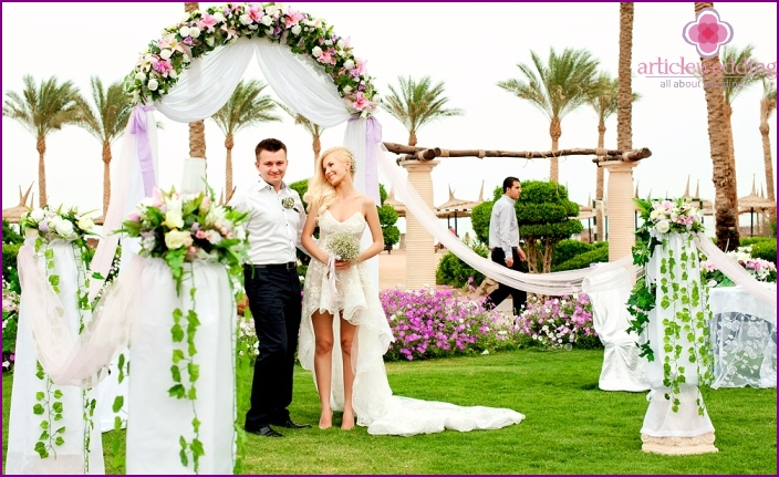 Wedding tseermoniya in Sharm El Sheikh