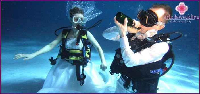 Maldivian underwater wedding