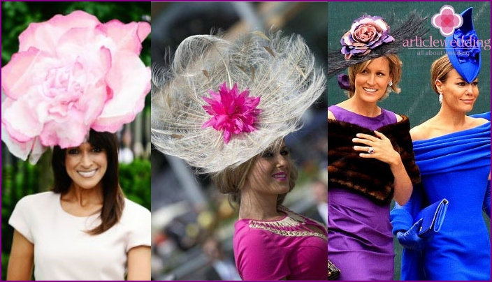 Hats - Women's dress code for the wedding