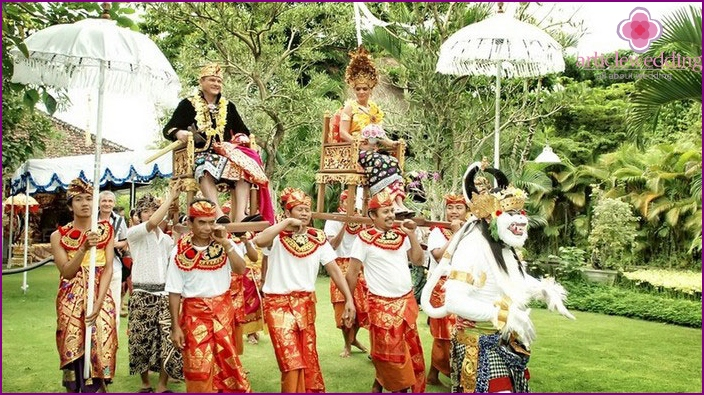Wedding ceremony in Thai