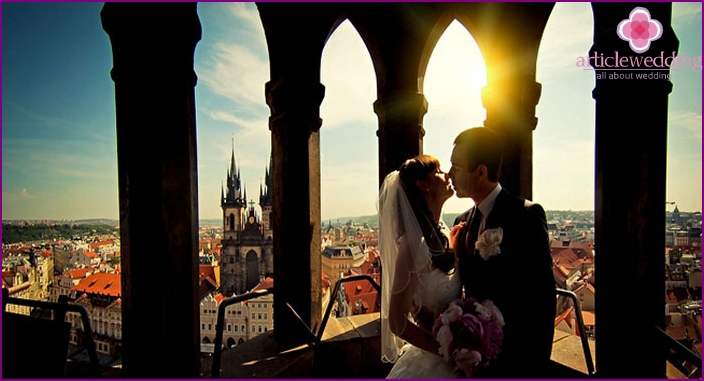 Symbolic wedding ceremony in the Czech Republic