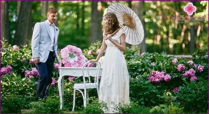 Ideas for the wedding photo shoot outdoors