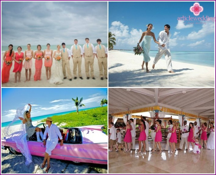 Organization of wedding ceremonies in Cuba