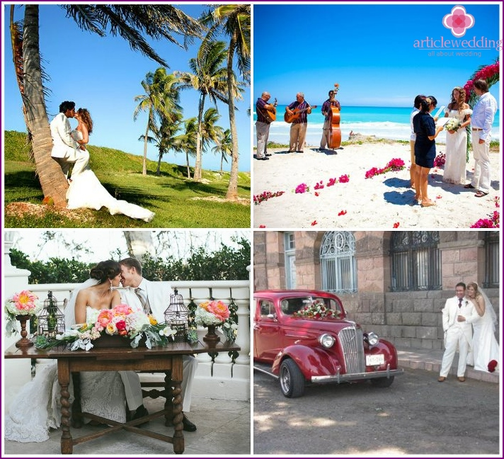 Photo shoot for a wedding in Cuba