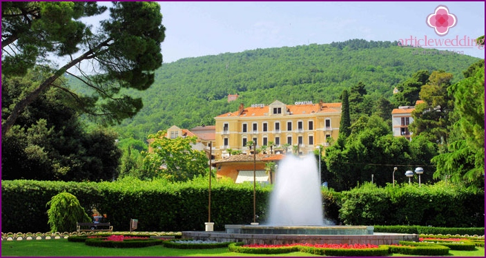 The resort of Opatija for marriage